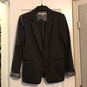 Lauren Conrad Dark Gray Cotton Blazer